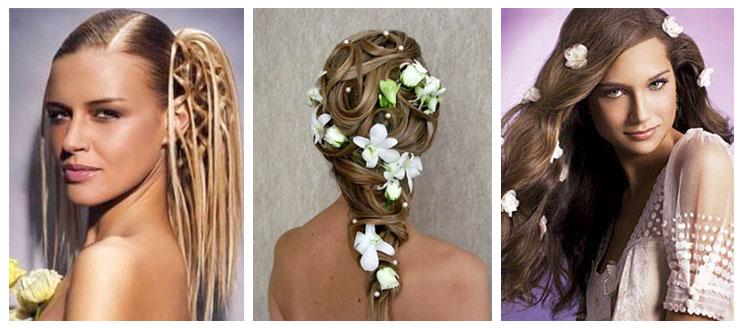 свадебная причёска 2