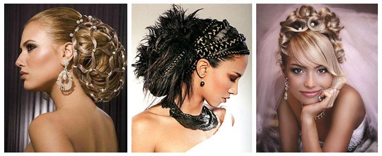 свадебная причёска 3