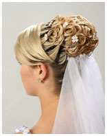 свадебная причёска 8